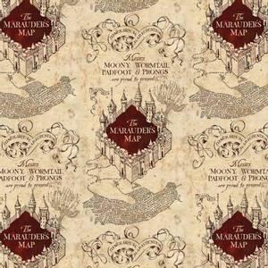 Bilde av Bomullsjersey Map on Knit Harry Potter