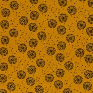 Bilde av Musselin - Double Gauze ochre gul med Dandelion