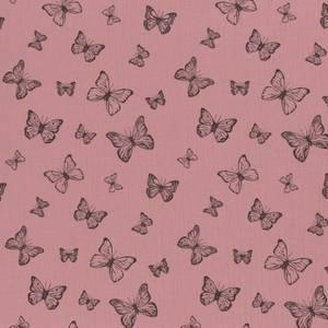 Bilde av Musselin - Double Gauze sommerfugler gammelrosa
