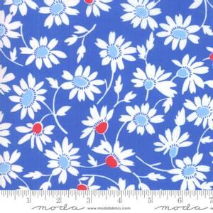 Bilde av Bomullstoff Back Porch Bountiful Blue blomster
