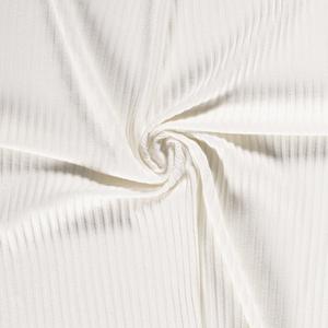 Bilde av Beklednings ribbet jersey krem stoffet har et