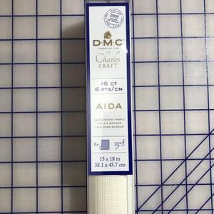 Bilde av 38x45cm DMC AIDA STOFF Ecru 6 tr/cm