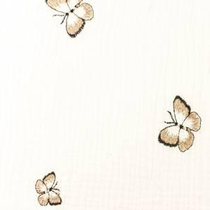 Bilde av Musselin - Double Gauze Broderi med sommerfugler