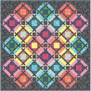 Bilde av Quilt Kit Color Therapy Batik, 68in x 68in