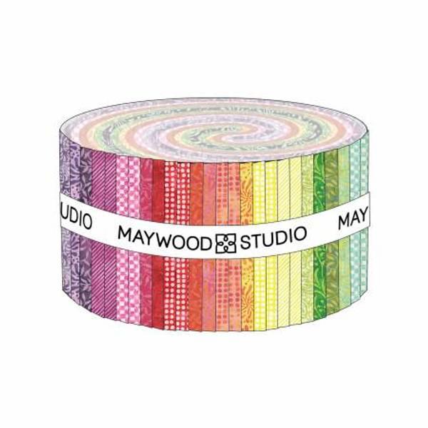 2-1/2in Strips Color Therapy Batik, 40pcs/bundle
