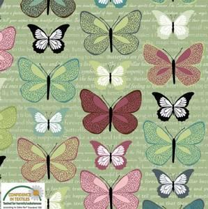 Bilde av Bomullstoff Flying Around sommerfugler