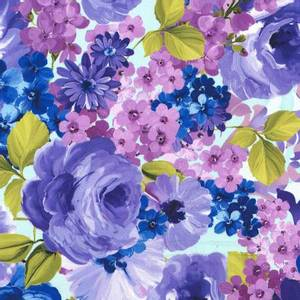 Bilde av Bomull stoff Violet Fantasy Blooms