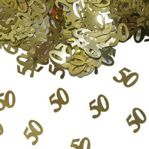 Bilde av Konfetti 50 Gull