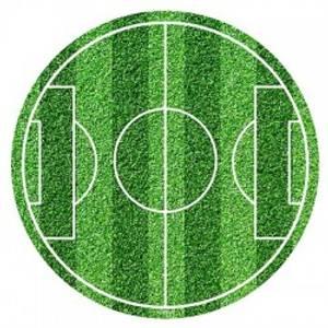Bilde av Fotball Kakelokk 20 cm Ø