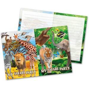 Bilde av Safari Invitasjonskort 8 st