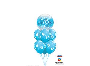 Bilde av Baby Boy Blue & Confetti Dots Bubble