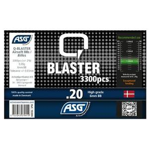 Bilde av Q-Blaster Softgunkuler - 0.20g - 3300stk