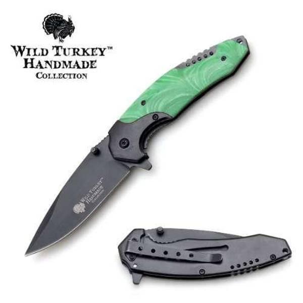 Bilde av WT - Håndlaget Foldekniv - Green Pearl