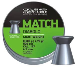 Bilde av JSB Match Diabolo til Pistol - 4.5mm - 500stk