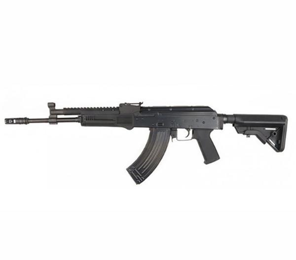 Bilde av E&L - AK702 Elektrisk Softgunrifle Full Metall Proline - Svart