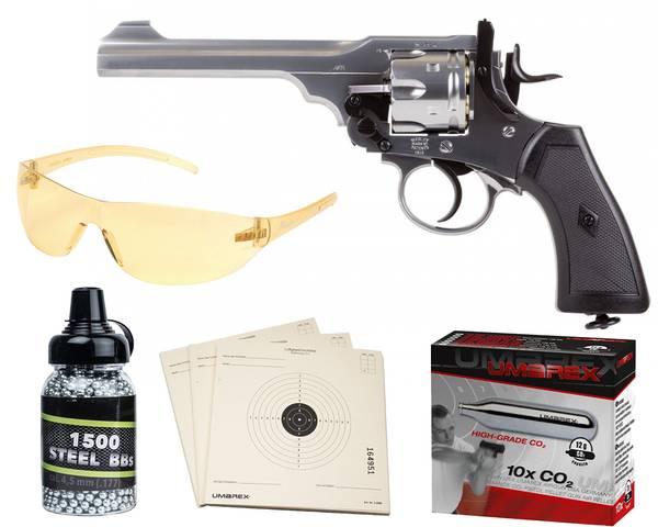 Bilde av Webley - MKVI Service Revolver 4.5mm BB - Pakke
