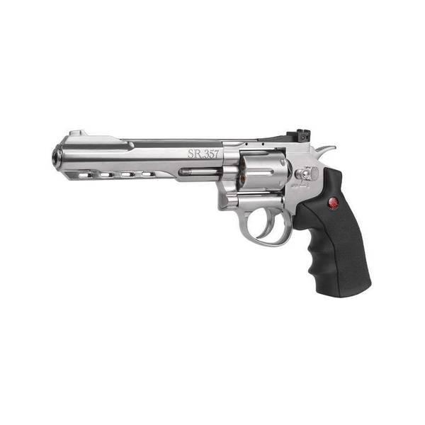 Bilde av Crosman 357 Magnum 4.5mm BB Luftpistol Sølv - Kraftpakke