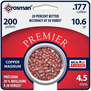 Bilde av Crosman Copper Magnum Domed Luftgeværkuler - 4.5mm - 200stk