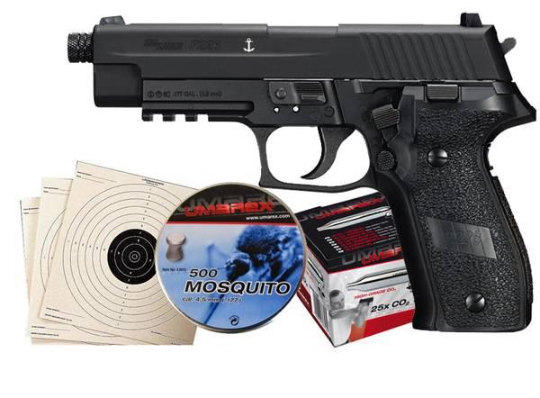 Bilde av Sig Sauer P226 Sort Luftpistol Pakkesett med alt du trenger!
