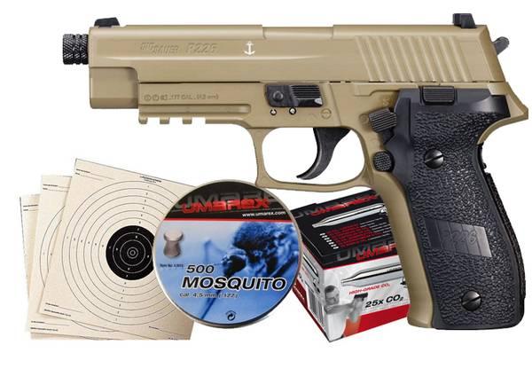 Bilde av Sig Sauer P226 FDE Luftpistol Pakkesett med alt du trenger!
