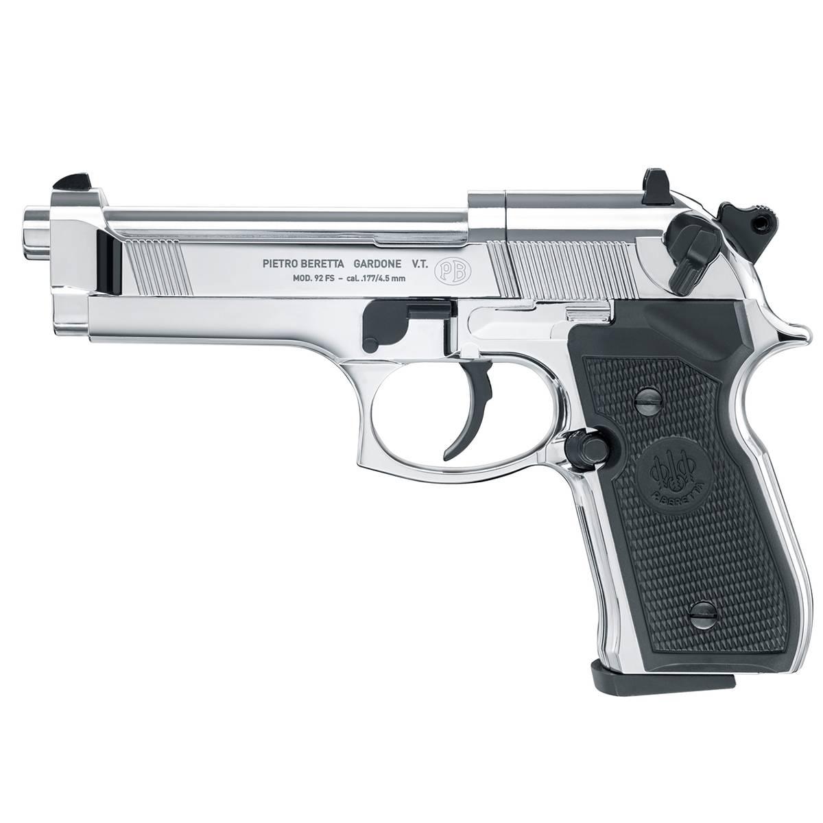 Beretta 92FS Polished Chrome - 4.5mm Pellets