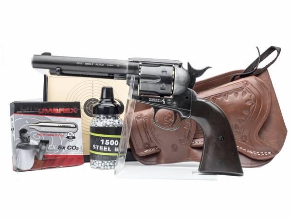 Bilde av Colt Peacemaker SAA .45 - 4.5mm BB - Antique - PAKKE