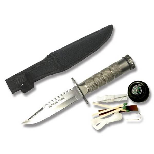 Bilde av Snake Eye - Mini Survival Kniv - Sølv