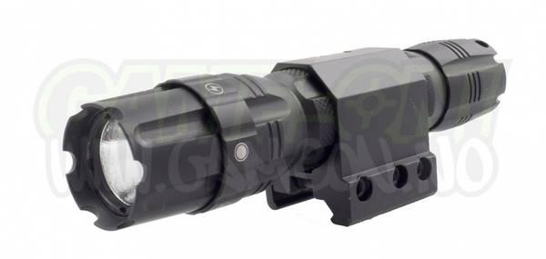 Bilde av NcStar Lommelykt 250 Lumen - High/Low/Strobe - 21mm Montasje