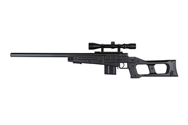 Bilde av Well - MB4408C Fjærdrevet Airsoft Sniper med Kikkertsikte - Svar