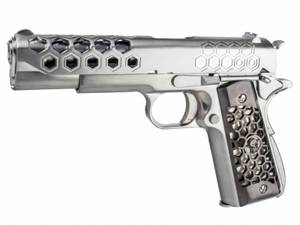 Bilde av WE - 1911 Hex Style Silver - Gass Softgun med Blowback