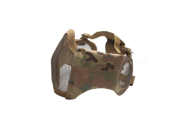 Bilde av Mesh Maske med Kinnpute og Ørebeskyttelse - Multicam