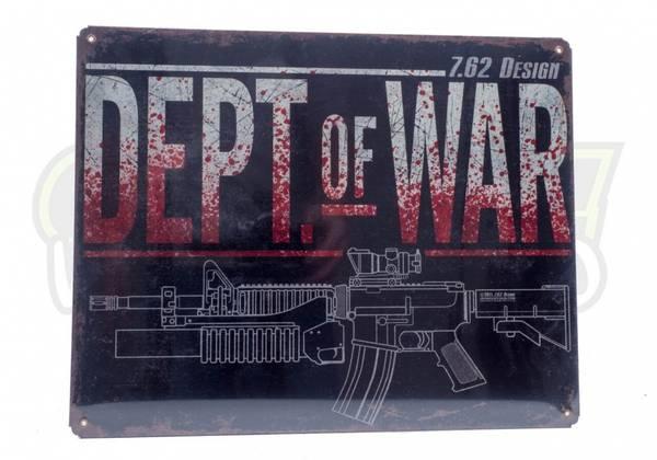 Bilde av Dept. of War - Vintage Stålskilt