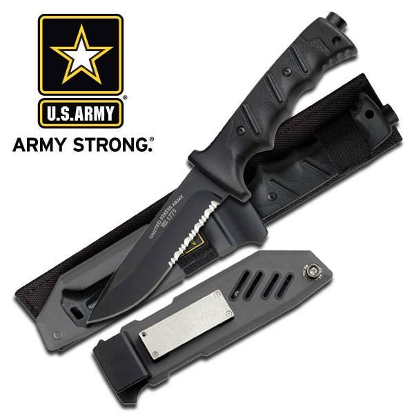 Bilde av US Army - Valor Kniv med Slire - Svart