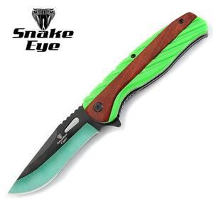 Bilde av Snake Eye - Taktical Sheriff Rescue Foldekniv - Neongrønn