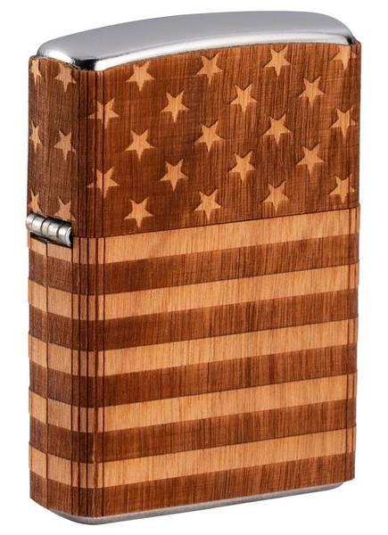 Bilde av Zippo - WOODCHUCK Amerikansk Flagg - Lighter
