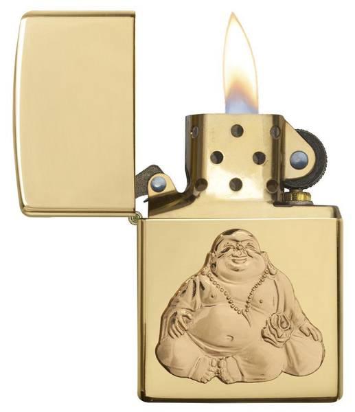 Bilde av Zippo - Laughing Buddha i Gull - Lighter