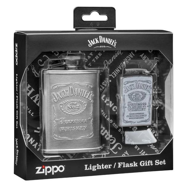 Bilde av Zippo - Jack Daniels® Lighter og Lommelerke Gavesett
