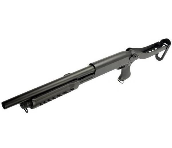 Bilde av S&T - M870 Softgun Pumpehagle i Metall - Svart