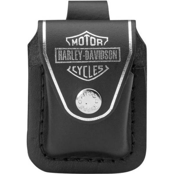 Bilde av Orginal Zippo Holder med Beltefeste i Skinn - Harley Davidson