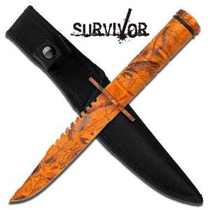 Bilde av Snake Eye - Mini Survival Kniv - Lava Camo