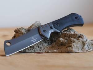 Bilde av Taktisk Razor Blade Kniv med Slire - Grå/Svart
