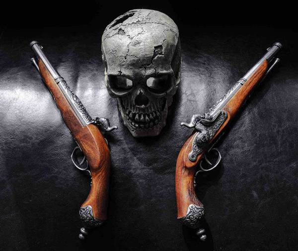 Bilde av Replika av Italienske Duell Pistoler - 2stk