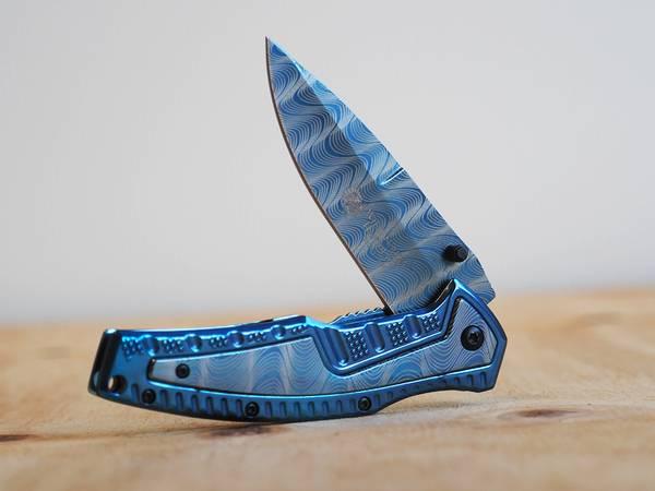 Bilde av Wild Turkey - Håndlaget Design Foldekniv - Blå