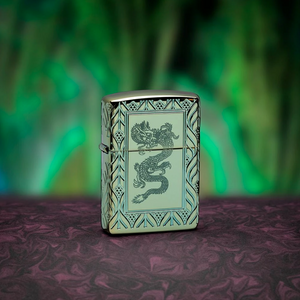 Bilde av Zippo - Green Elegant Dragon - Armor 360 Degree Limited