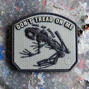 Bilde av Patch - Dont Tread on me Frog Rubber - Ranger Green