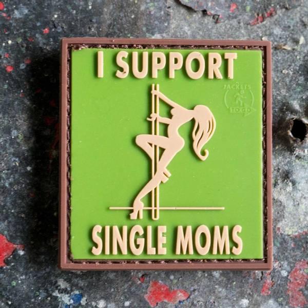 Bilde av Patch - I Support Single Moms Rubber - Multicam