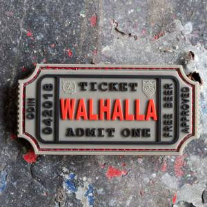Bilde av Patch - Large Walhalla Ticket Rubber - Grå
