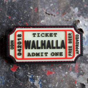 Bilde av Patch - Large Walhalla Ticket Rubber - Selvlysende