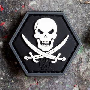 Bilde av Patch - No Fear Pirate Rubber - SWAT