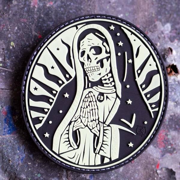 Bilde av Patch - Santa Muerte Rubber - Selvlysende